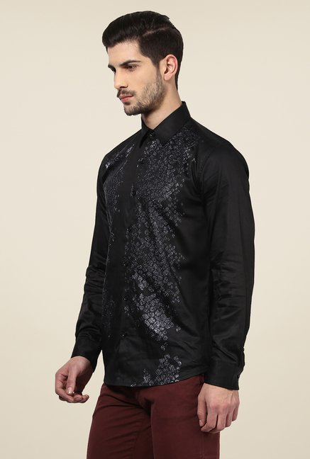 Yepme Black Duke Printed Party Shirt