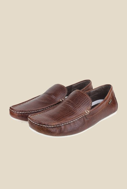 Red Tape Brown Leather Loafers