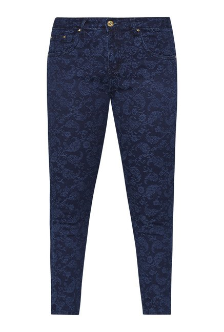 Gia by Westside Navy Floral Print Jeans