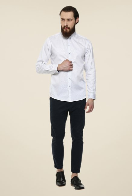 Yepme White Luke Printed Party Shirt
