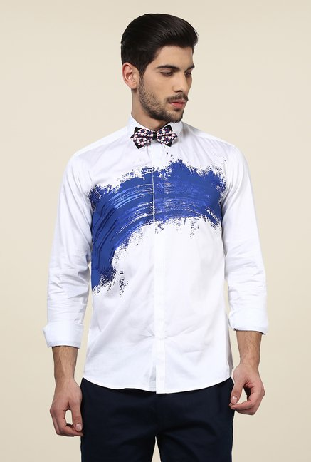 Yepme White Printed Afro Party Shirt