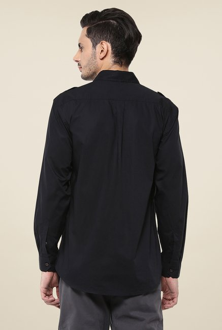 Yepme Black Dominique Premium Cargo Shirt