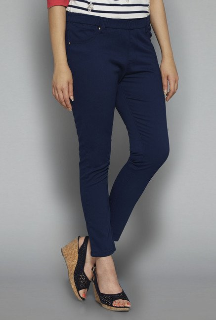 Gia by Westside Navy Solid Treggings