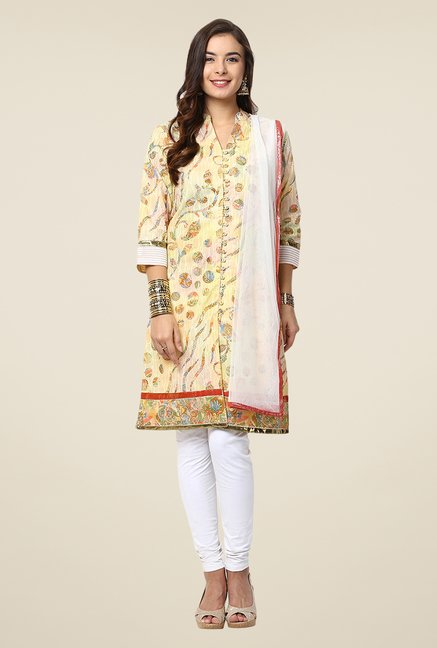 Yepme Yellow Caphy Salwar Kameez Set