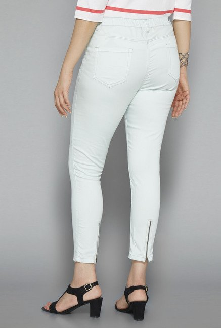 Gia by Westside Green Solid Jeggings