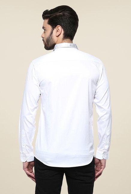 Yepme White Asher Foil Party Shirt