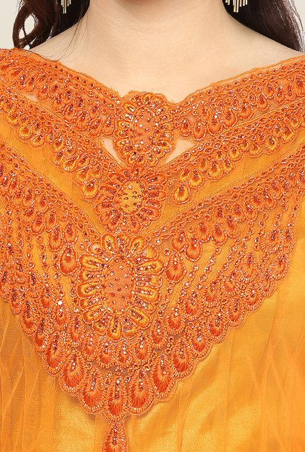 Yepme Mealany Orange Salwar Suit Set