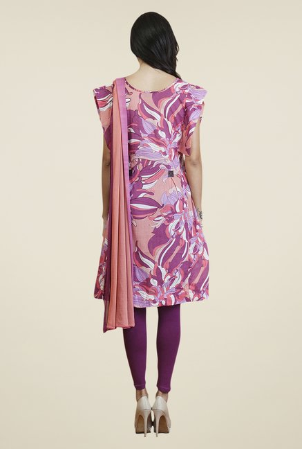 Yepme Purple & Peach Vellina Kurti Set