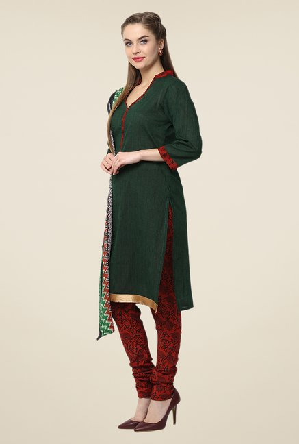 Yepme Green Terri Salwar Suit Set