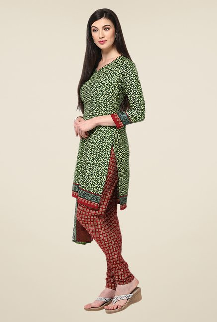 Yepme Green Densy Salwar Suit Set