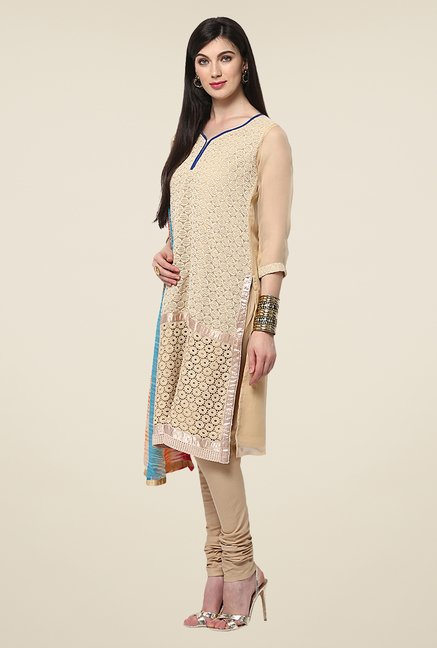 Yepme Routh Beige Salwar Suit Set