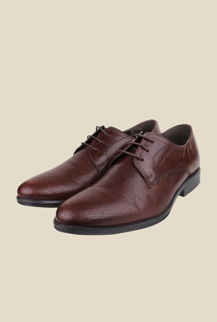9b48b1dc0d0 Buy Red Tape Brown Derby Shoes Online at best price at TataCLiQ