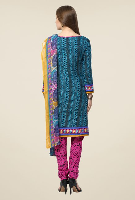 Yepme Blue Densy Salwar Suit Set