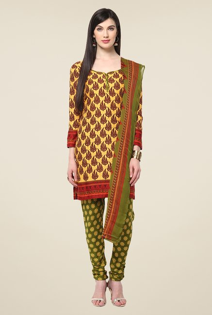 Yepme Densy Yellow & Green Salwar Suit Set