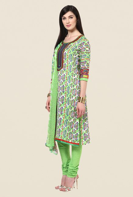 Yepme Green Hailey Salwar Kameez Set