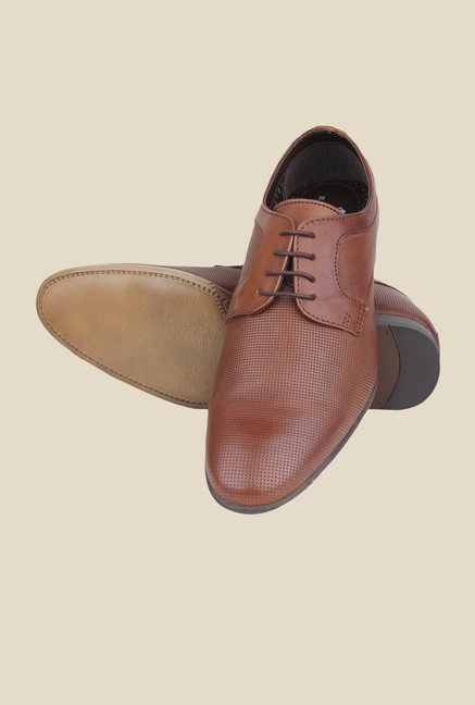 Red Tape Teak Brown Derby Shoes