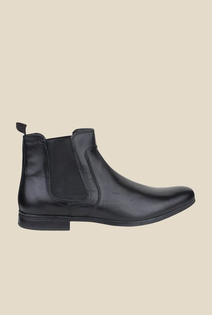Red Tape Black Chelsea Boots