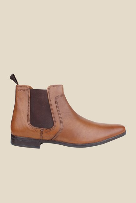 Red Tape Tan Chelsea Boots