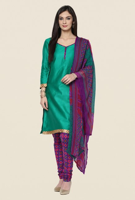 Yepme Phobie Green & Purple Salwar Suit Set