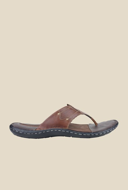 Red Tape Brown Thong Sandals