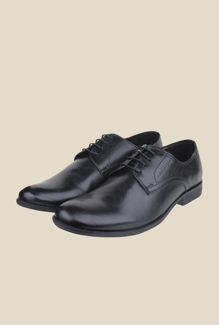 Red Tape Black Derby Shoes