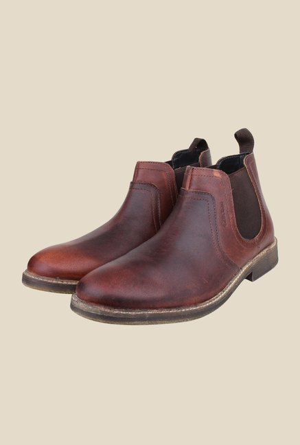 Red Tape Brown Chelsea Boots