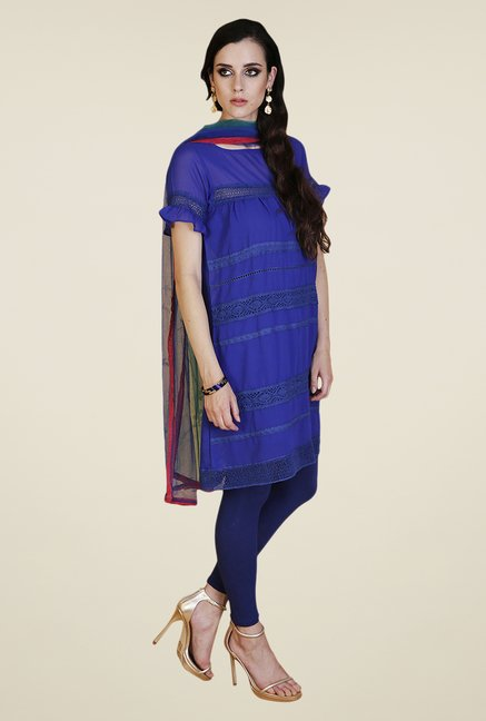 Yepme Royal Blue Zenny Kurti Set