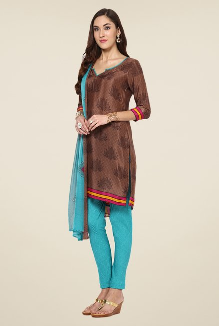 Yepme Brown Hyna Salwar Suit Set