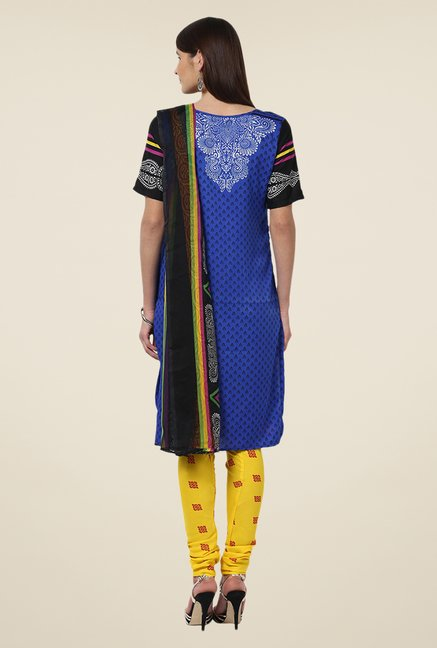 Yepme Blue & Yellow Priska Salwar Suit Set