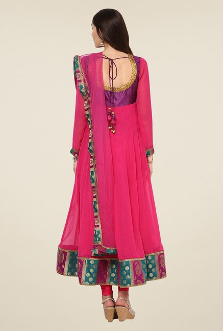 Yepme Purple & Pink Zenzi Salwar Suit Set