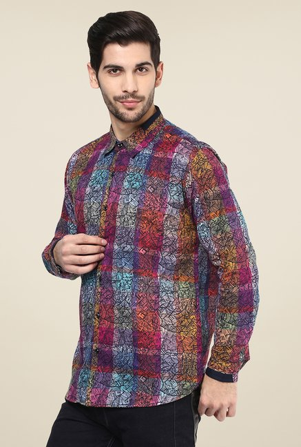Yepme Multicolor Warren Printed Party Shirt
