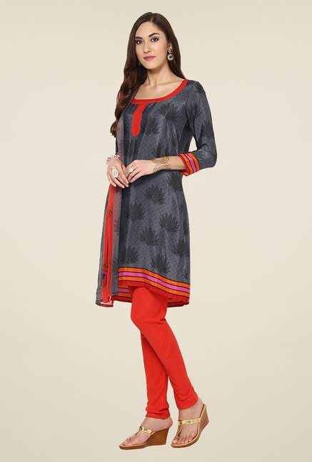 Yepme Grey Hyna Salwar Suit Set