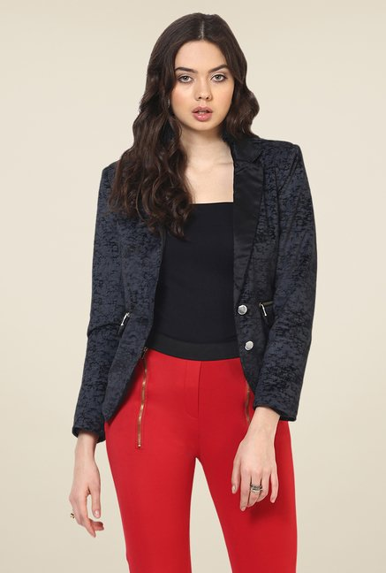 Yepme Black Sterry Party Blazer