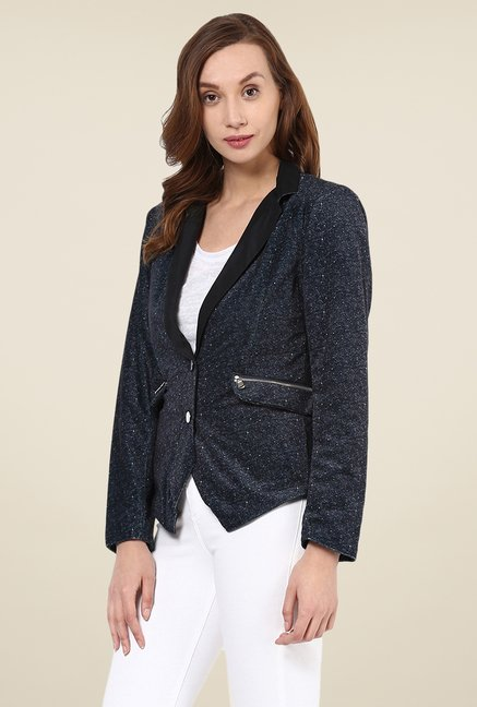 Yepme Dark Green Sterry Party Blazer