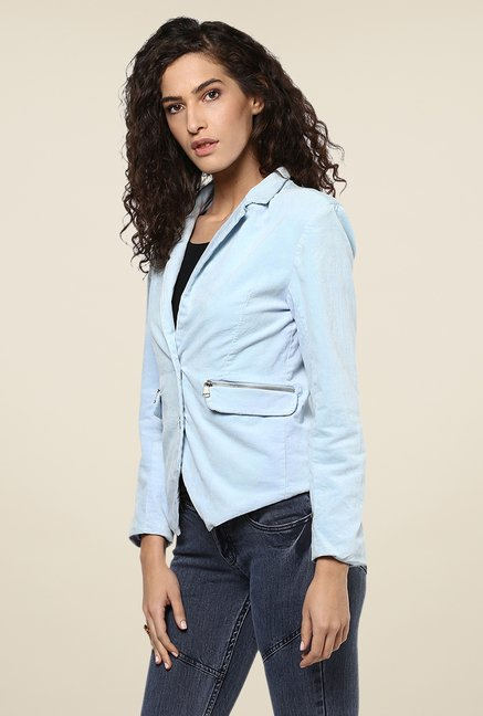 Yepme Sky Blue Sterry Party Blazer