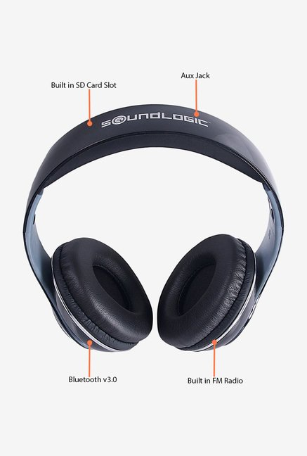 Soundlogic BTHP001PX_BK Bluetooth Headphone (Black)