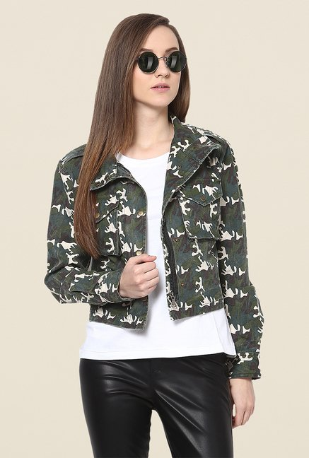 Yepme Green Derby Full-sleeved Jacket