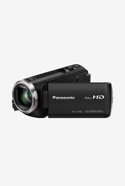 Panasonic HC-V180 Full HD 28mm WIDE LENS Camcorder Camera(Black) HC-V180 Full HD