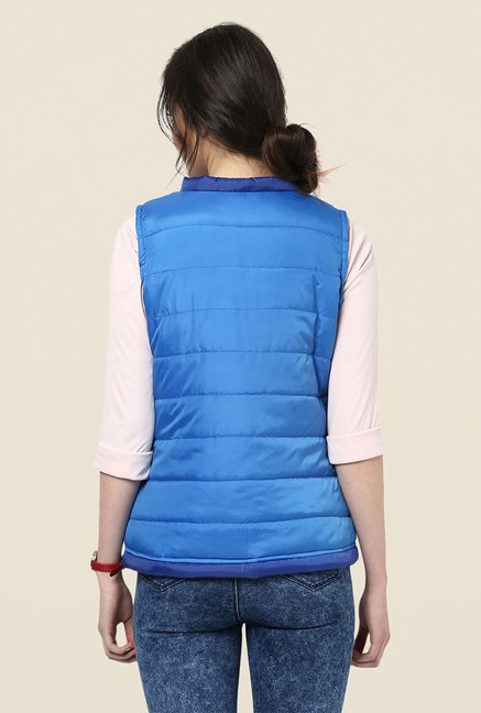 Yepme Blue Jamie Sleeveless Jacket