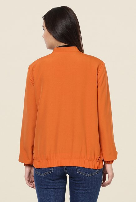 Yepme Orange Katey Full-sleeved Jacket