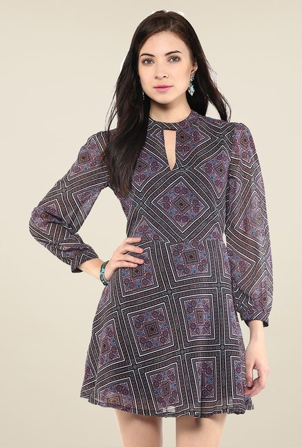 Yepme Multicolor Printed Peasant Dress