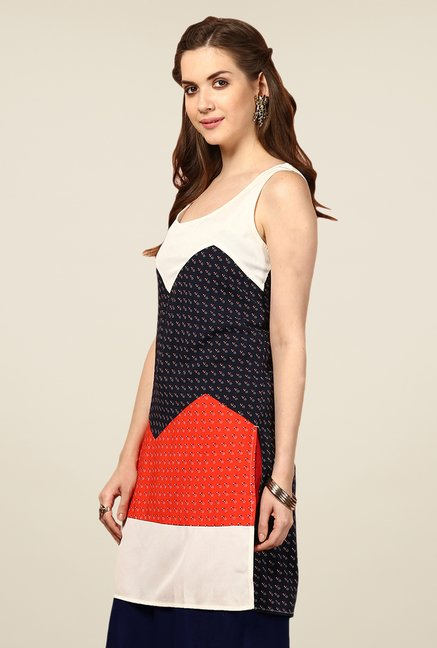 Yepme Multicolor Clarice Printed Sleeveless Tunic