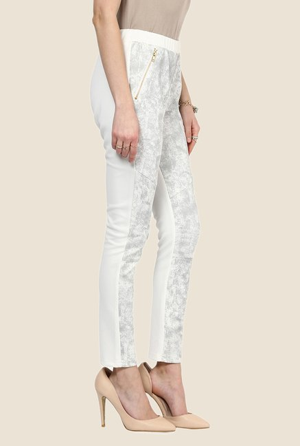 Yepme Electra White Party Jeggings