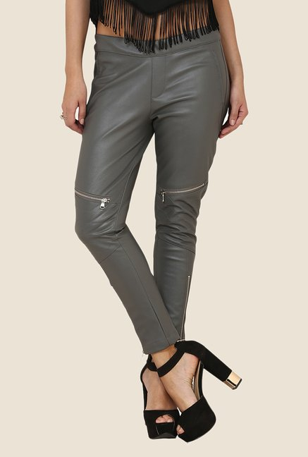 Yepme Katlyn Grey Party Jeggings