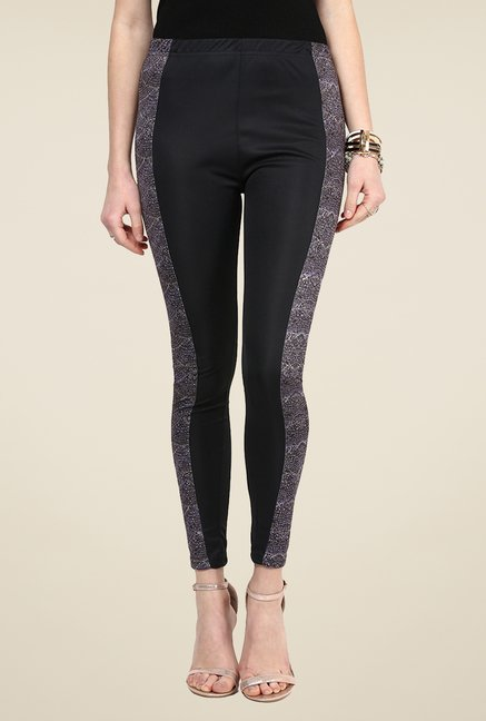 Yepme Jackui Black Party Leggings