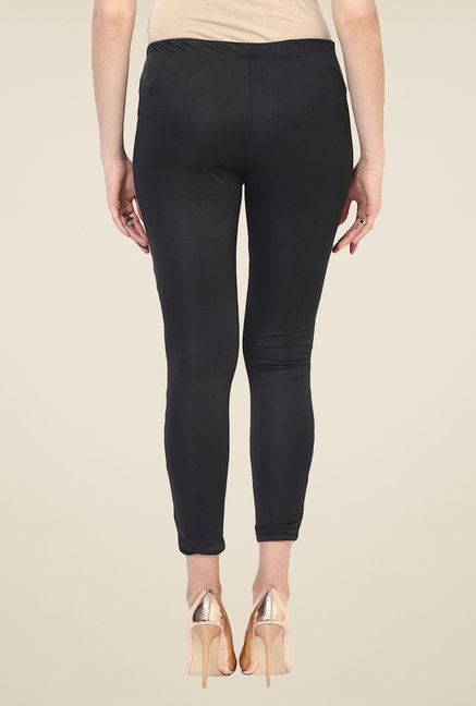 Yepme Ellise Blue & Black Party Leggings