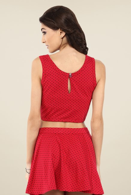 Yepme Red Kerli Crop Top
