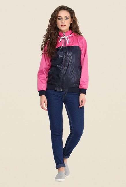 Yepme Navy & Pink Klara Full-sleeved Jacket