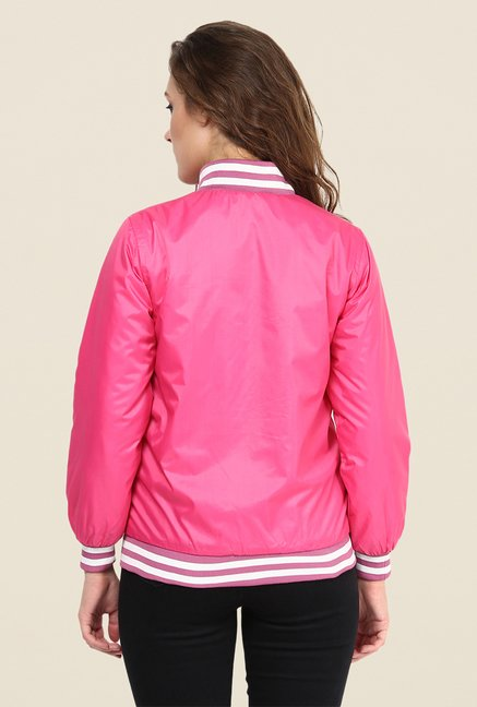 Yepme Pink Raven Full-sleeved Jacket
