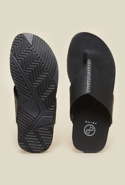 Privo by Inc.5 Black Thong Sandals
